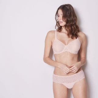 Rigid moulded bra - Blush