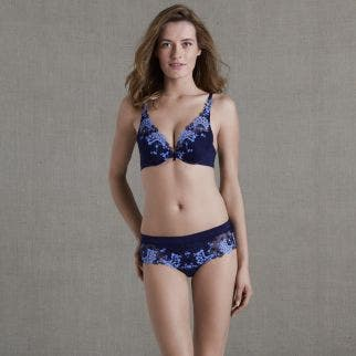 Soutien-gorge push-up triangle - Marine