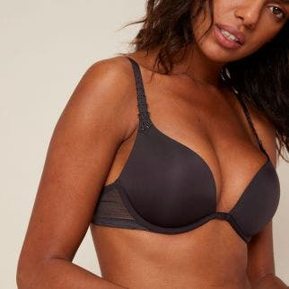 Triangle push-up bra - Grey