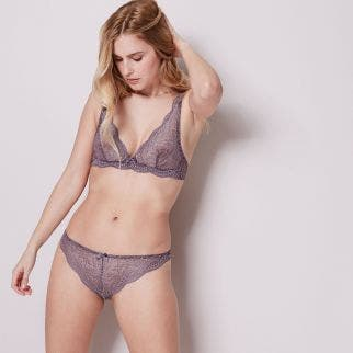 Wireless triangle bra - Grey