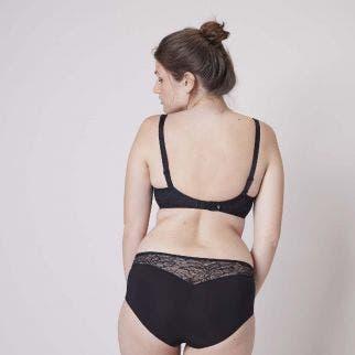 Underwire maternity and nursing bra - Black