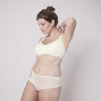 Underwire maternity and nursing bra - Natural