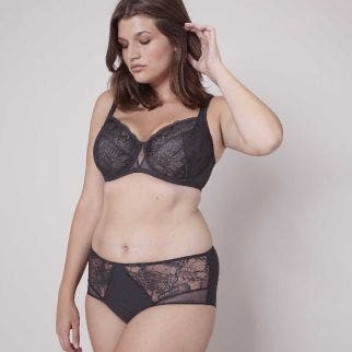 Full cup support bra - Grey
