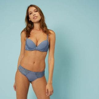 Push-up bra - Platinum blue