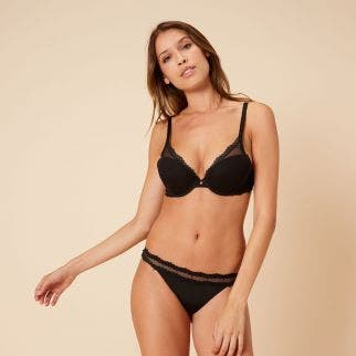 Triangle push-up bra - Black