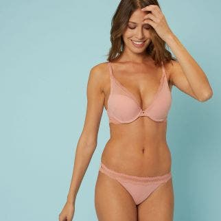 Soutien-gorge push-up triangle - Rose perfecto