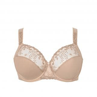Full cup support bra - Nude