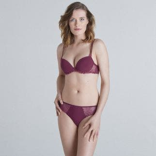 Push-up with racerback bra - Burgundy