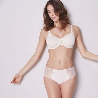 Rigid moulded bra - Natural