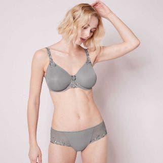 Rigid moulded bra - Metallic