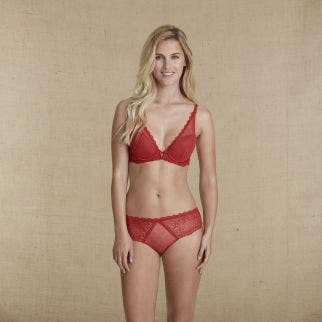 Soutien-gorge push-up triangle - Brique