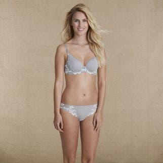 3D plunge bra - Cloud
