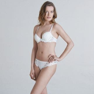 Soutien-gorge push-up plongeant - Naturel