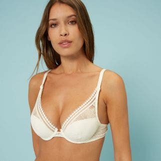 Triangle push-up bra - Natural