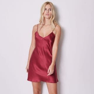 Short nightdress - Burgundy