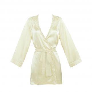 Kimono en soie - Champagne