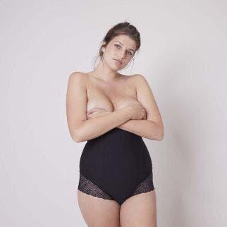 Culotte gainante taille haute - Noir