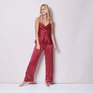 Silk trousers - Burgundy