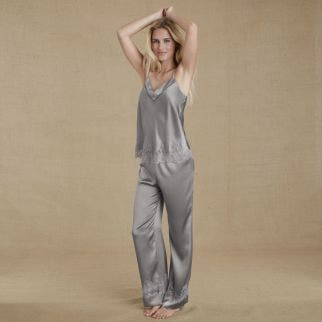 Pantalon en soie - Nuage