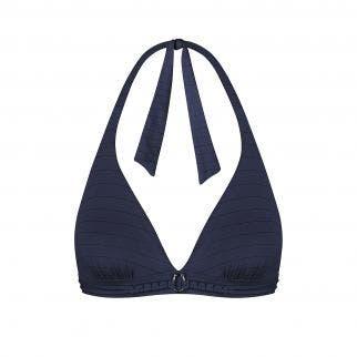 Haut de maillot de bain triangle sans armatures - Marine Tresse