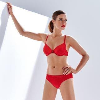 Culotte de bain - Rouge tresse