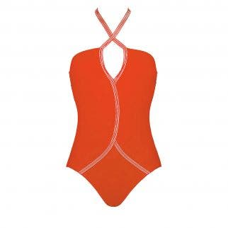 Wireless one-piece swimsuit - Orange