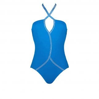 Wireless one-piece swimsuit - Royal blue