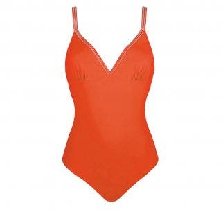 Underwired one-piece swimsuit - Orange