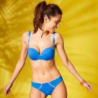 Underwired bandeau bikini top - Royal blue