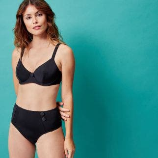 Underwired bikini top - Black