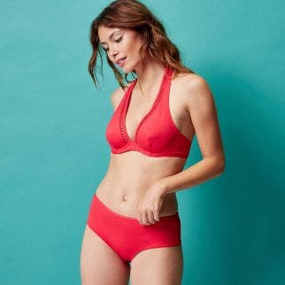 Underwired bikini triangle - Red