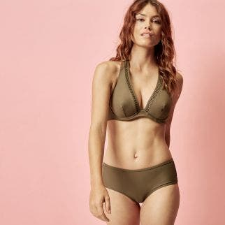 Underwired bikini triangle - Olive