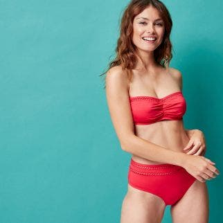 High-waist bikini brief - Red