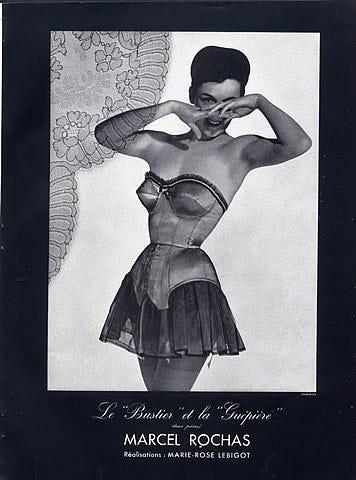 Histoire de la lingerie : la guêpière et porte-jarretelles | Simone Pérèle