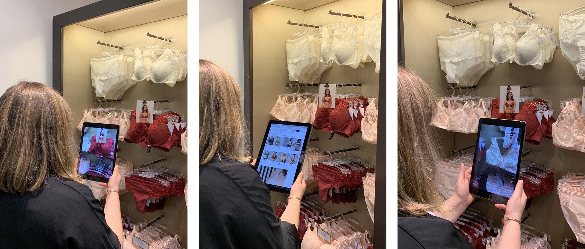 Simone Pérèle lance son service de shopping à distance en boutique.  Profitez d'une expérience shopping unique et des conseils avisés de notre experte lingerie, qui vous aidera à sélectionner vos pièces de lingerie idéales tout en restant chez vous
