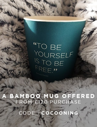 A BAMBOO MUG OFFERED FROM £120 PURCHASE WITH CODE COCOONING | Simone Pérèle